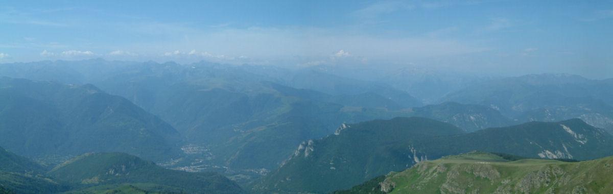 Panoramique vers le Sud-Ouest du Pic du Han
