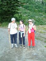 Marie Francoise, Camille et Julie peu apres le depart