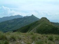 Vue vers le Pic de St Barthelemy et le Pic du Han depuis le sommet de l'Estagnole