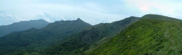 Panoramique Sud-Est depuis le col d'Aygue Torte