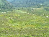 Vue de la descente vers la station des Monts d'Olmes depuis le col d'Aygue Torte