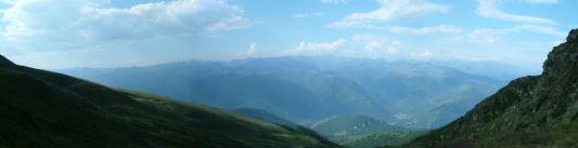 Panoramique au Sud du col de la Cadene