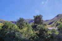 Le Pic de Sarrasi depuis le bas de la station de Goulier - Endron