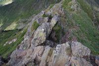 Petite cheminée sur la crête du Sarrasi