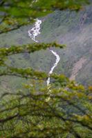 Le ruisseau de l'Artigue devalant les pentes de Labelanouses