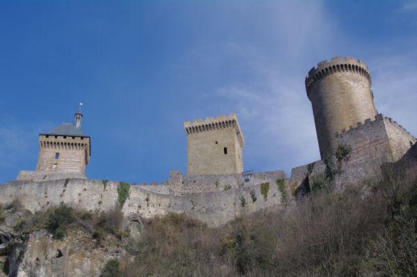 Le Château de Foix depuis la rue des Moulins