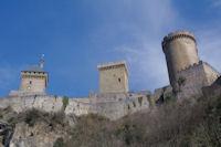 Le Chateau de Foix depuis la rue des Moulins