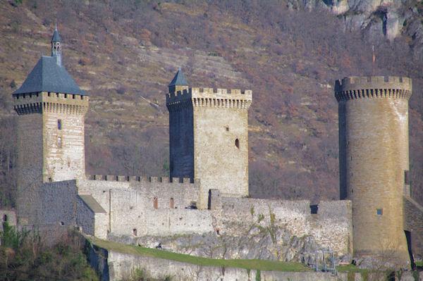 Le château de Foix depuis l_Espinet