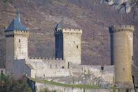 Le chateau de Foix depuis l'Espinet