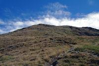 La pente Sud Ouest du Pic de Tarbesou