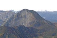 La face Est de la Dents d'Orlu depuis le Sarrat de Gabensa