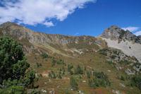 Pic de Tarbesou et Pic de la Coumeille de l'Ours depuis l'Etang Bleu