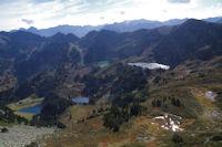 Les Etangs depuis le chemin remontant au Col de la Coumeille de l'Ours