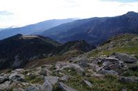 Le Pic de Monpudou et le Pic de la Coumeille de l'Ours depuis le Pic de Tarbesou