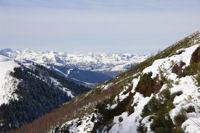 Au dessus du ruisseau de l'Andorre, vue sur l'Ouest de la vallee