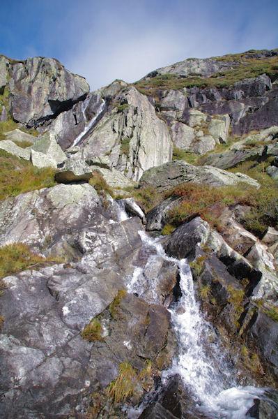 Le ruisseau d_Arbu au dessus de l_étang