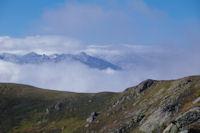 Le Pic de Fontat au dessu de la crete de Fontanette