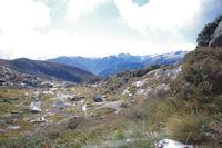 Le massif du Montcalm a l'horizon
