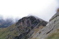 Le Pic de Barres dans les nuages