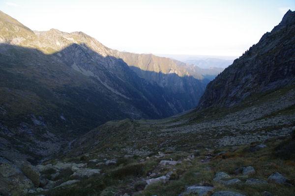 Le vallon du Ribérot en montant vers le Refuge des Estagnous