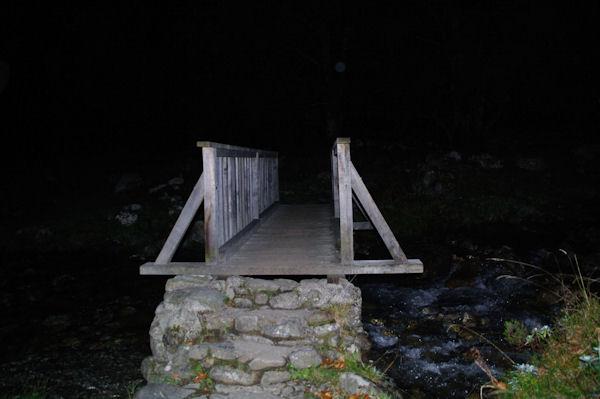 La seconde passerelle pour passer rive droite du Ribérot