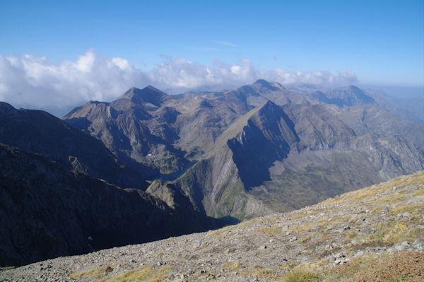 En montant vers le Mont Valier