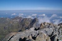Depuis le sommet du Mont Valier, vue Est
