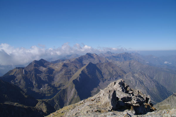 Depuis le sommet du Mont Valier, vue Ouest
