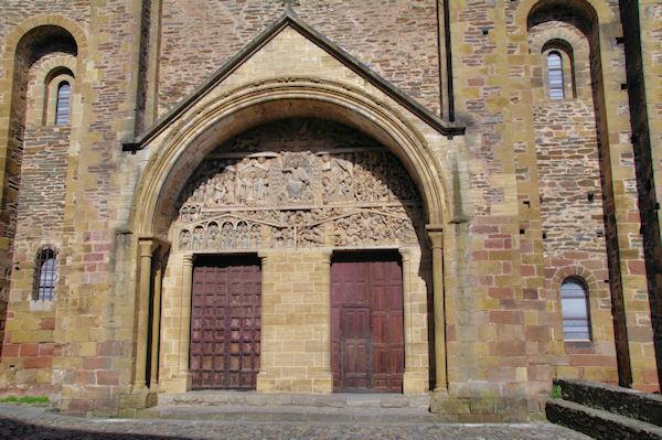 Le tympan de l_Abbaye Ste Foy de Conques