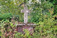 Vieille croix à la sortie de Marroule