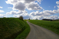 Le chemin remontant vers Lapeyrie