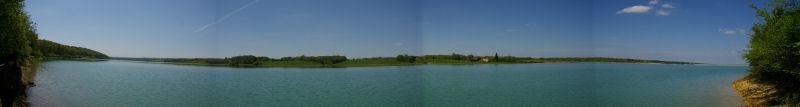 Panoramique sur le lac sous les Cotes de la Gimone