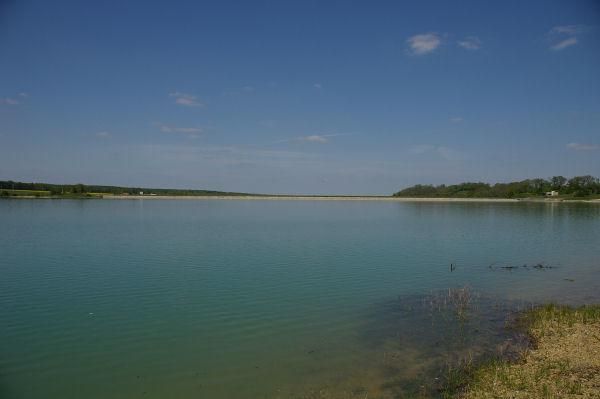 Encore 500m et on arrive au barrage de la Gimone