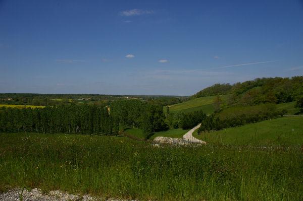 Vue sur la vallée de la Gimone depuis le barrage