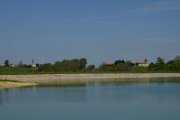 Vue du barrage de la Gimone, de Lunax et de Ducos depuis Marc