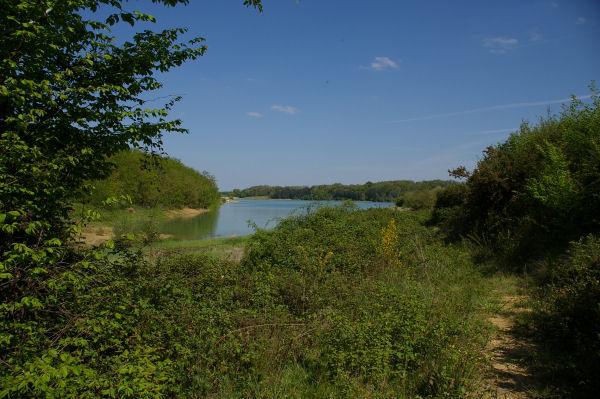 Vue depuis le fond de l&#39anse du ruisseau descendant de Sénac