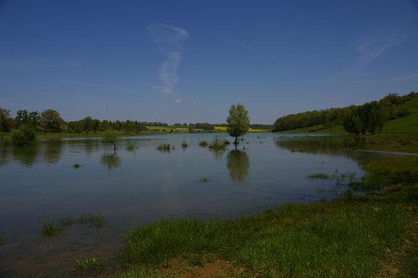 Le début du lac