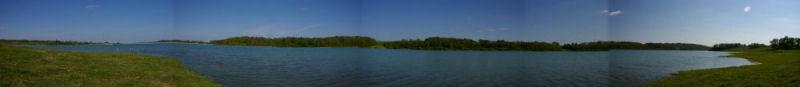 Panoramique sur le lac de la Gimone depuis Sabatier