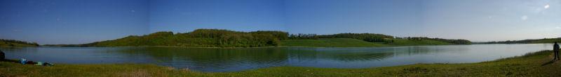 Panoramique du lac de la Gimone sous Cazeneuve