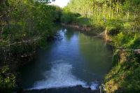 Depuis le pont enjambant la Gimone, sous les cotes de Bieil