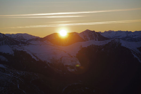 Lever de soleil depuis le Cap de la Passade des Agnères