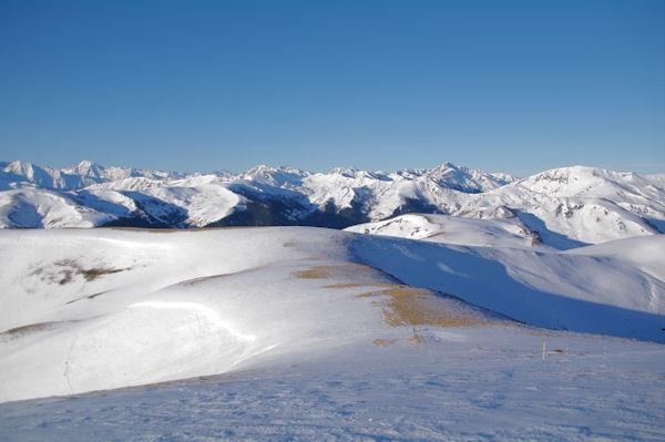 La crête entre le Sommet des Conques et le Cap de Pouy Pradaus