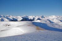 La crete entre le Sommet des Conques et le Cap de Pouy Pradaus