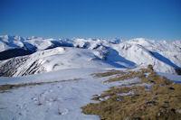 La crete entre le Mail de Salieres et le Cap de Pouy Pradaus