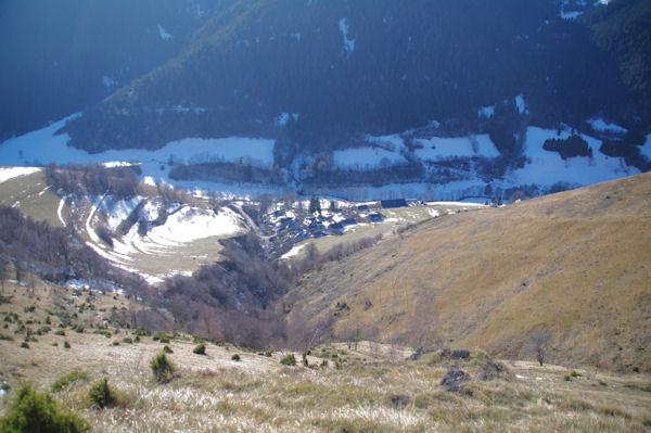 Caubous en bas dans la vallée