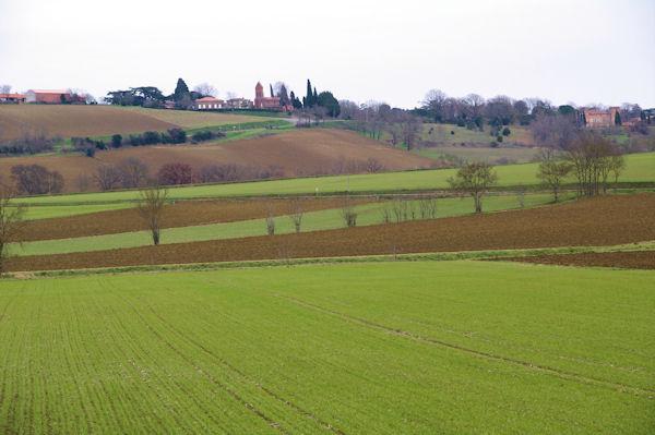 Préserville depuis la vallée de la Marcaissonne