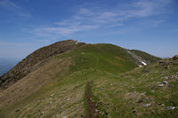La crete entre le Sommet de Pique Poque et le Pic de Cagire