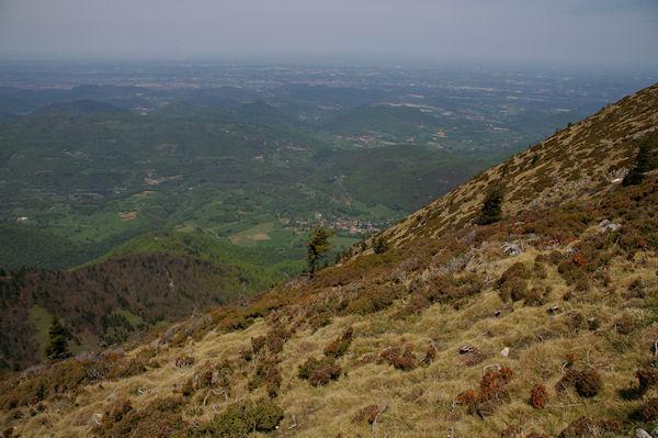 Le village de Juzet d&#39Izaut depuis les crêtes du Pic de Cagire