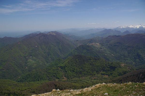 La vallée de Bouigane menant à Castillon Couseran depuis le Pic de Cagire