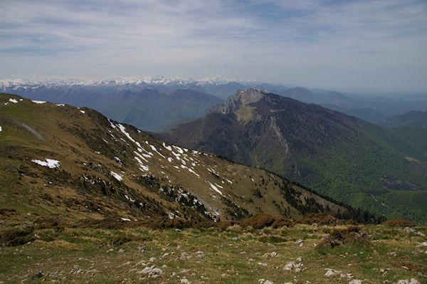 Le Pic Saillant et le Pic du Gar depuis le Pic de Cagire